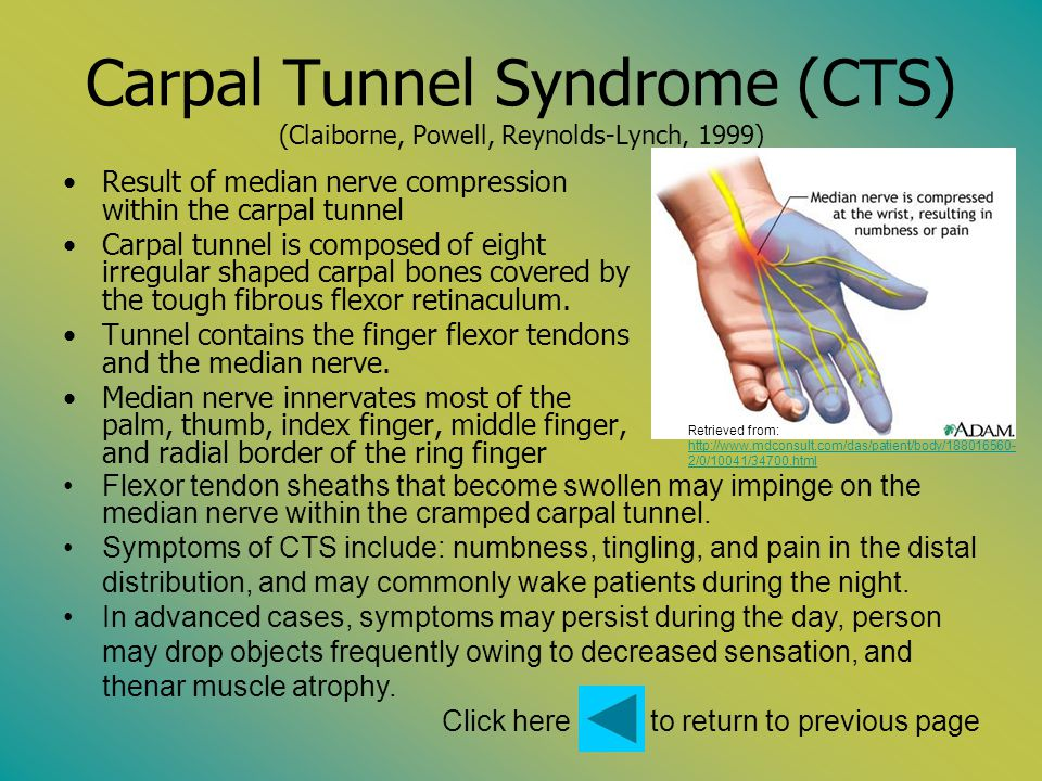 Click here to return to previous page De Quervains Disease (Claiborne, Powell, Reynolds-Lynch, 1999) A form of tenosynvitis affecting the first dorsal (extensor) compartment of the hand.