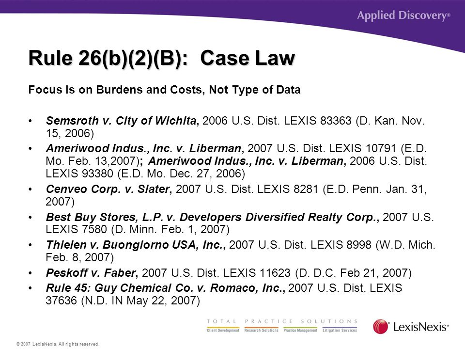© 2007 LexisNexis. All rights reserved.
