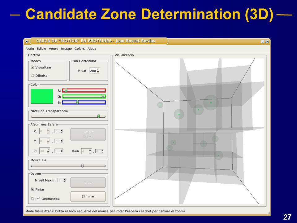 27 Candidate Zone Determination (3D)