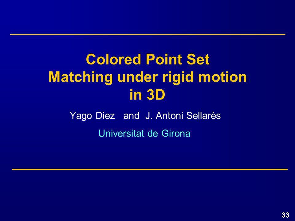 33 Yago Diez and J.