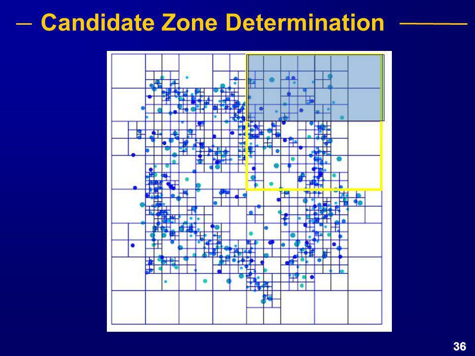 36 Candidate Zone Determination
