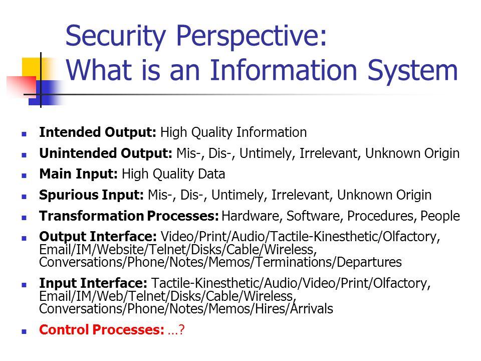 Scope of Security Subsystem a lá U.S.