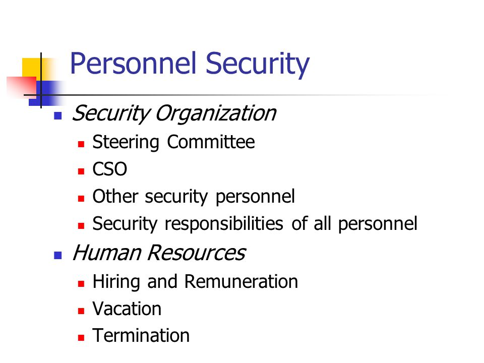 Procedural Security Risk Assessment Security Audit Security Policy Business Continuity Plan Training Plan