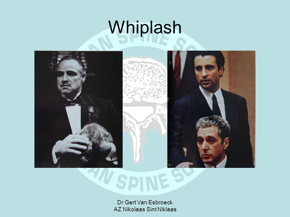 Dr Gert Van Esbroeck AZ Nikolaas Sint Niklaas Whiplash