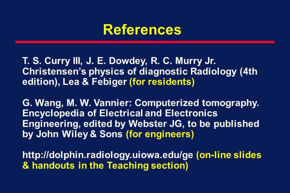 References T.S. Curry III, J. E. Dowdey, R. C. Murry Jr.