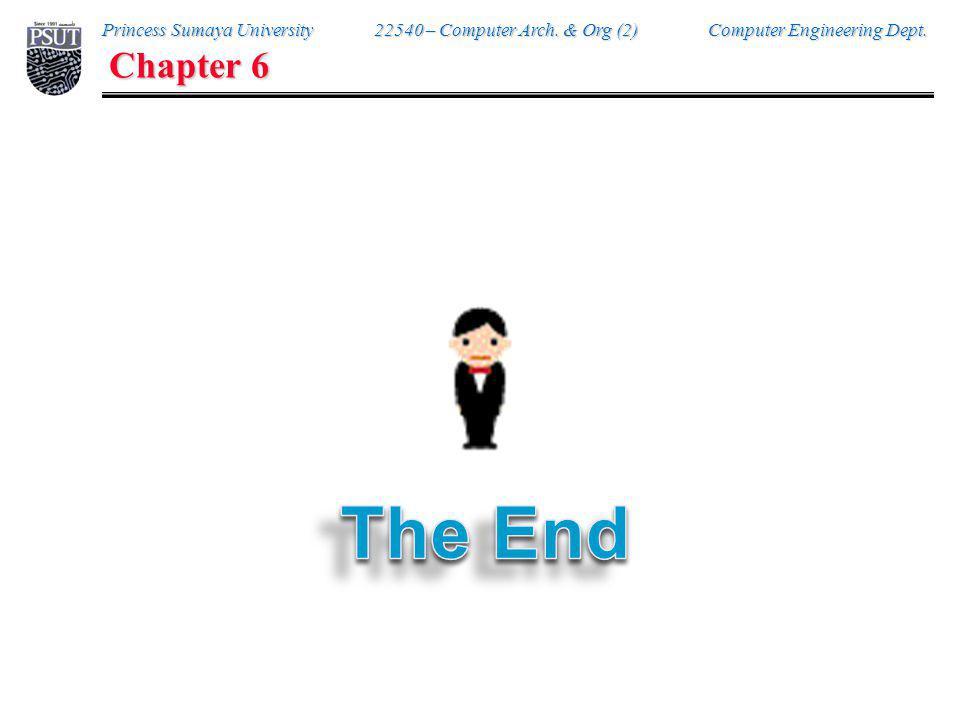 Princess Sumaya University 22540 – Computer Arch. & Org (2) Computer Engineering Dept. Chapter 6