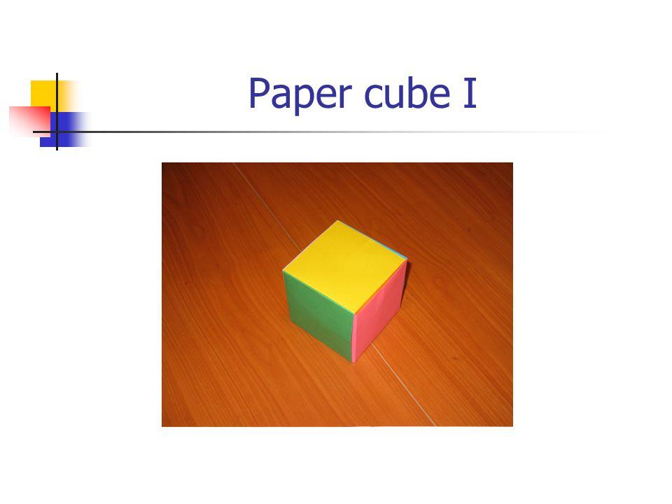 Paper cube I