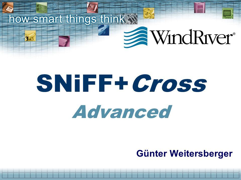 Günter Weitersberger SNiFF+Cross Advanced