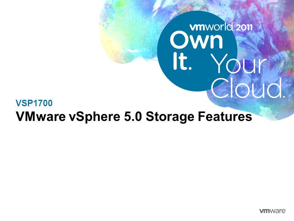 VSP1700 VMware vSphere 5.0 Storage Features