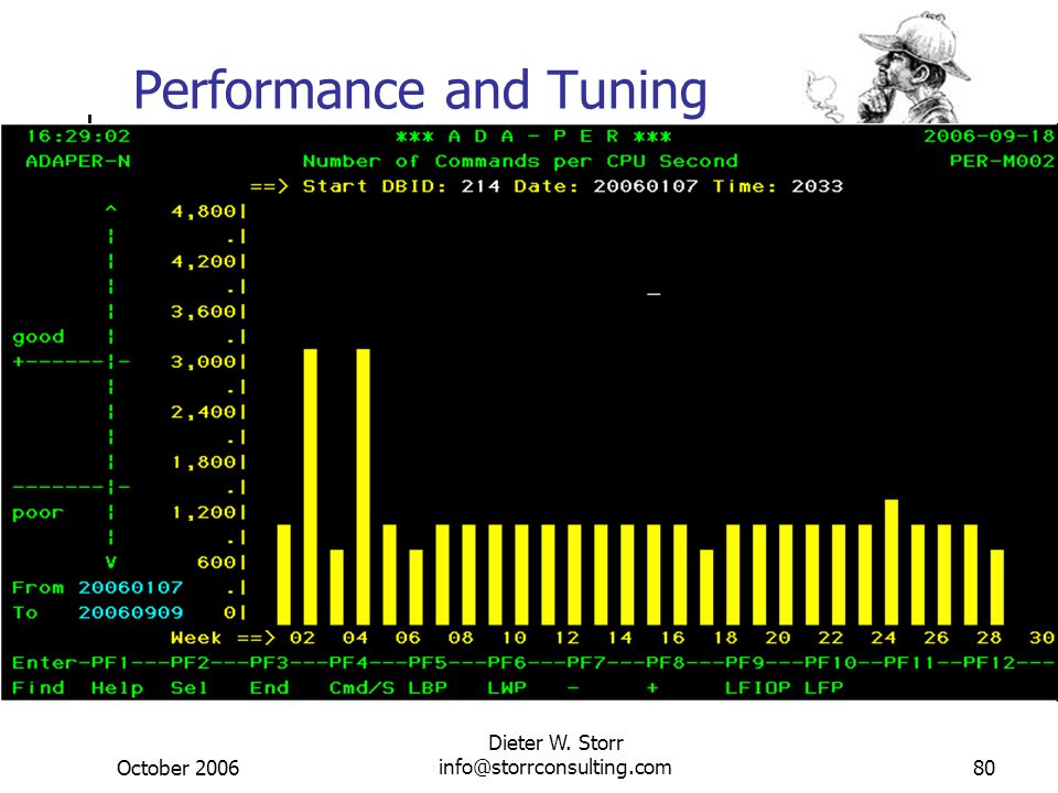 October 2006 Dieter W. Storr info@storrconsulting.com80 Performance and Tuning