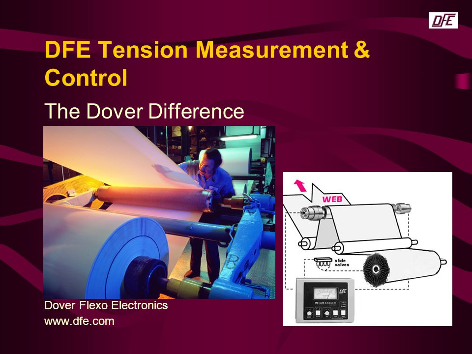 DFE Tension Measurement & Control The Dover Difference Dover Flexo Electronics www.dfe.com