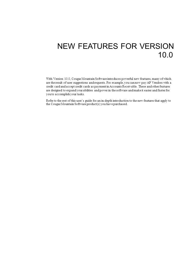 Index 32Cougar Mountain Software