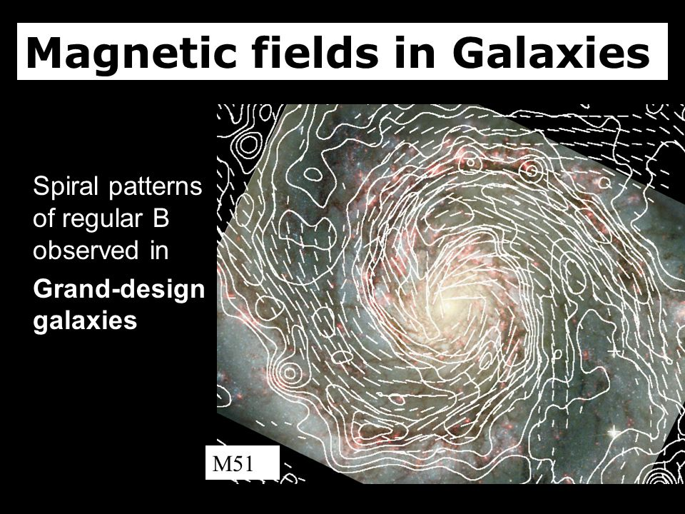Spiral patterns of regular B observed in Grand-design galaxies Magnetic fields in Galaxies M51