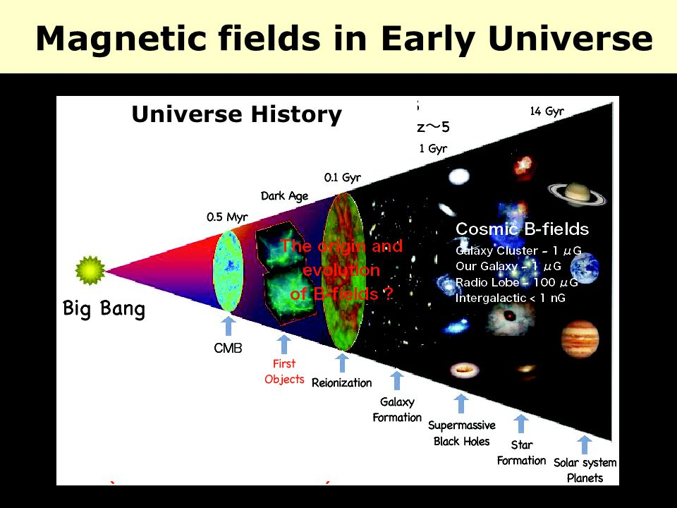 Magnetic fields in Early Universe Universe History