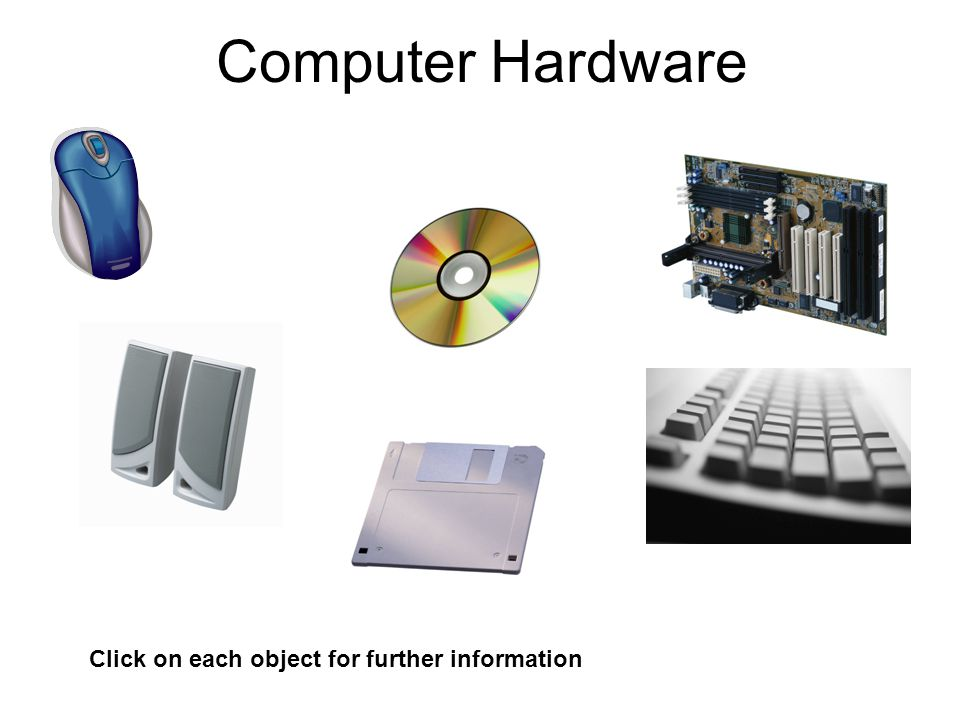 Computer Hardware Click on each object for further information