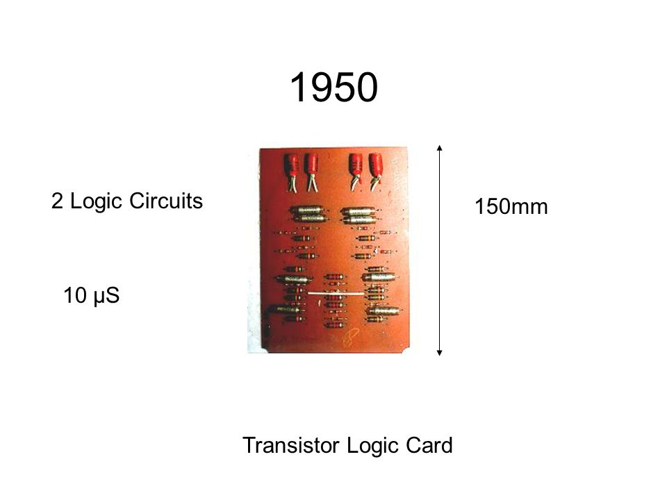 1950 Transistor Logic Card 2 Logic Circuits 150mm 10 μS