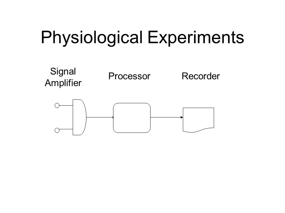 Physiological Experiments Signal Amplifier ProcessorRecorder