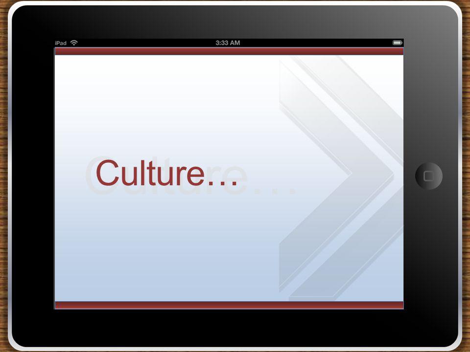 Culture…