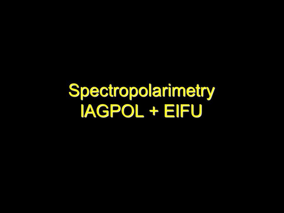 Spectropolarimetry IAGPOL + EIFU