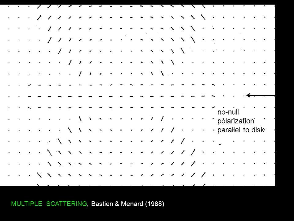 MULTIPLE SCATTERING, Bastien & Menard (1988) no-null polarization parallel to disk