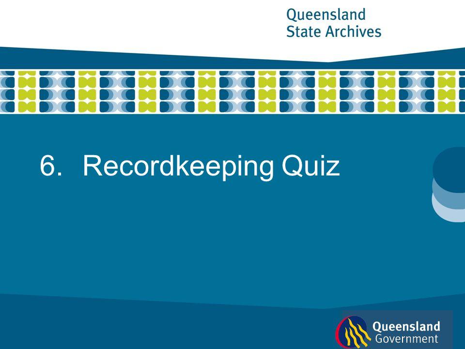 6.Recordkeeping Quiz