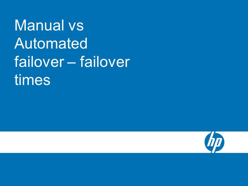 Manual vs Automated failover – failover times