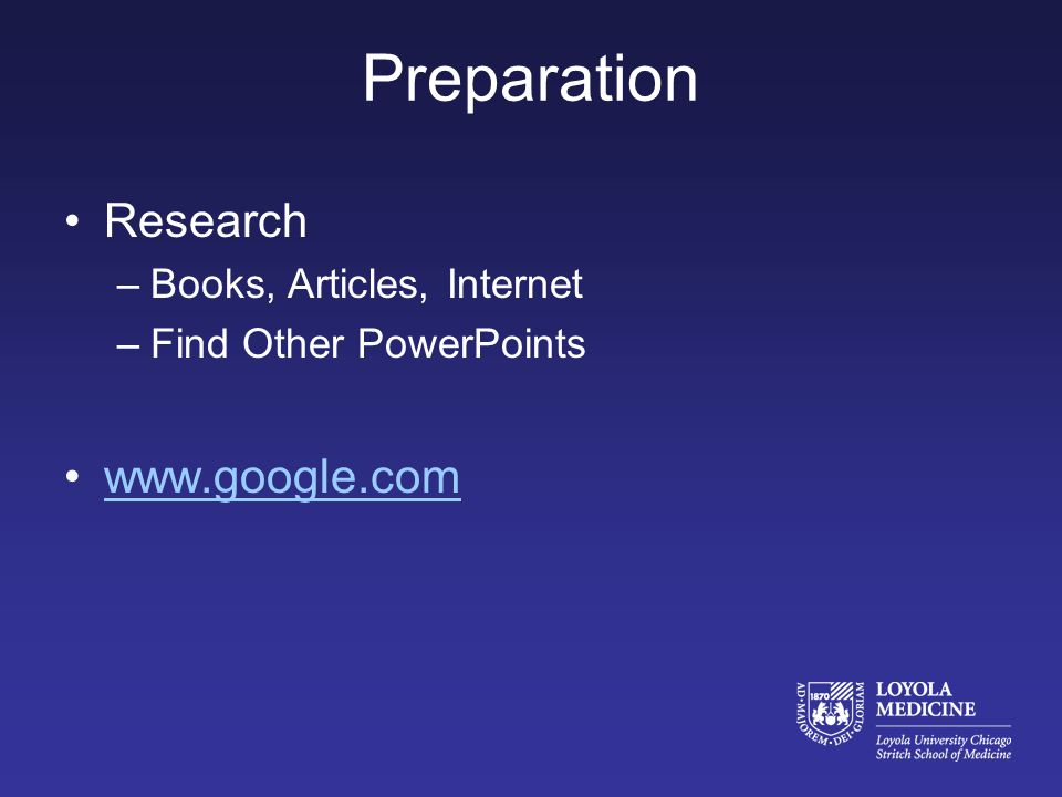 When preparing for a talk, do you search the internet specifically for other peoples PowerPoint presentations