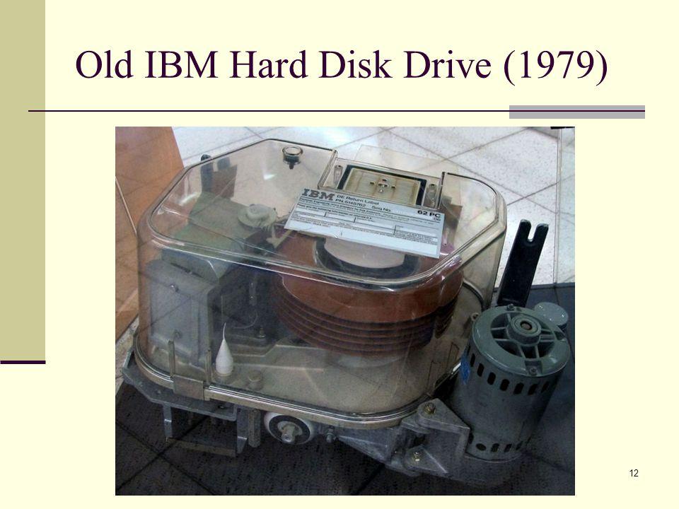12 Old IBM Hard Disk Drive (1979)