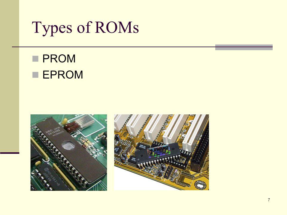 7 Types of ROMs PROM EPROM