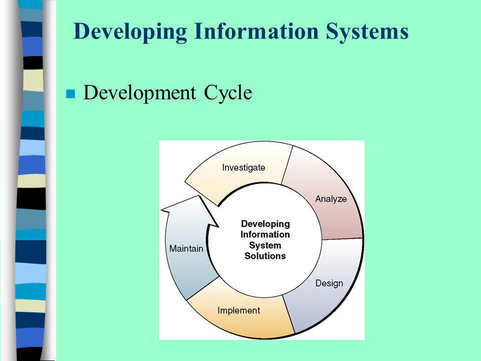 Developing Information Systems n Development Cycle