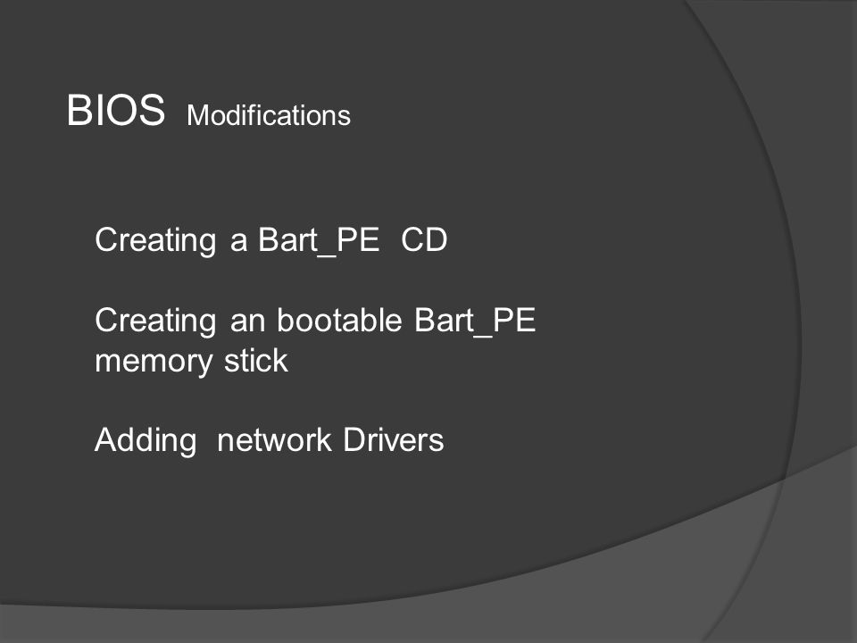 Downloadable software Bart_PE UBCD4Win USB-Boot Utilities Network Drivers