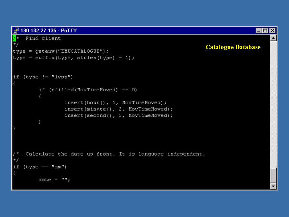 Catalogue Database