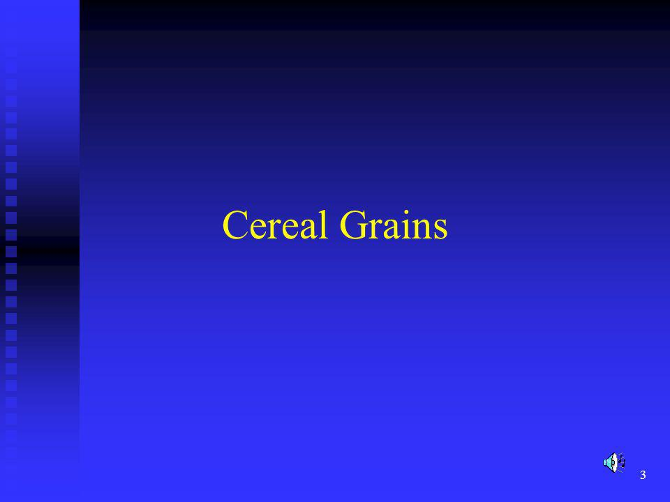 4 Cereals Cereals are plants that yield edible grains.
