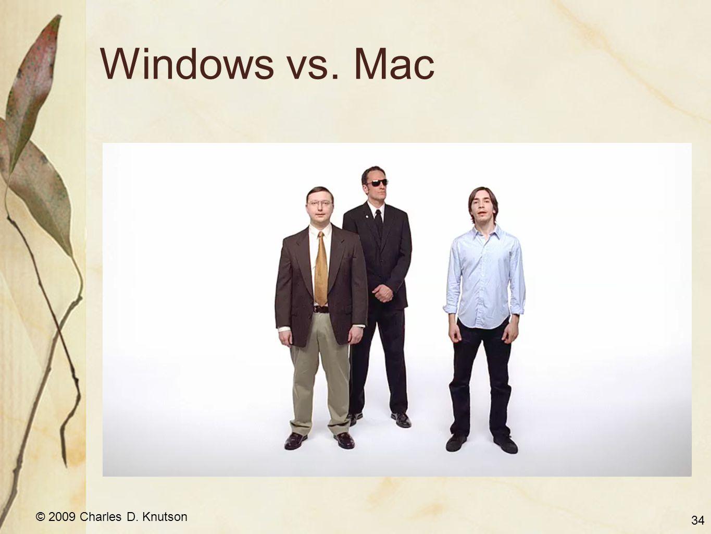 © 2009 Charles D. Knutson Windows vs. Mac 34