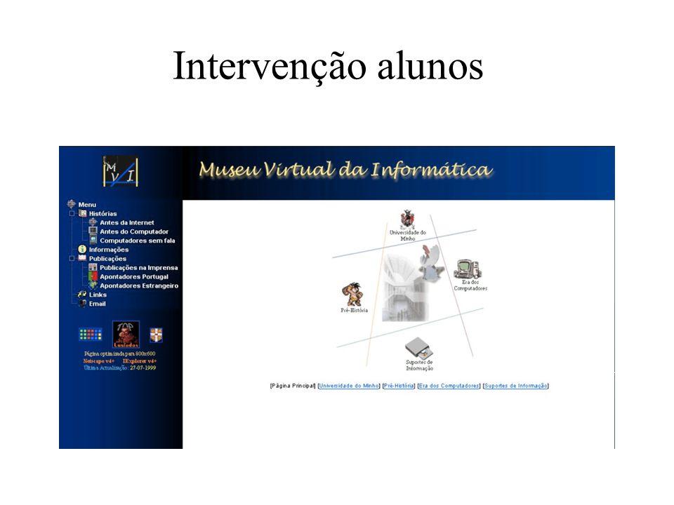 Intervenção alunos