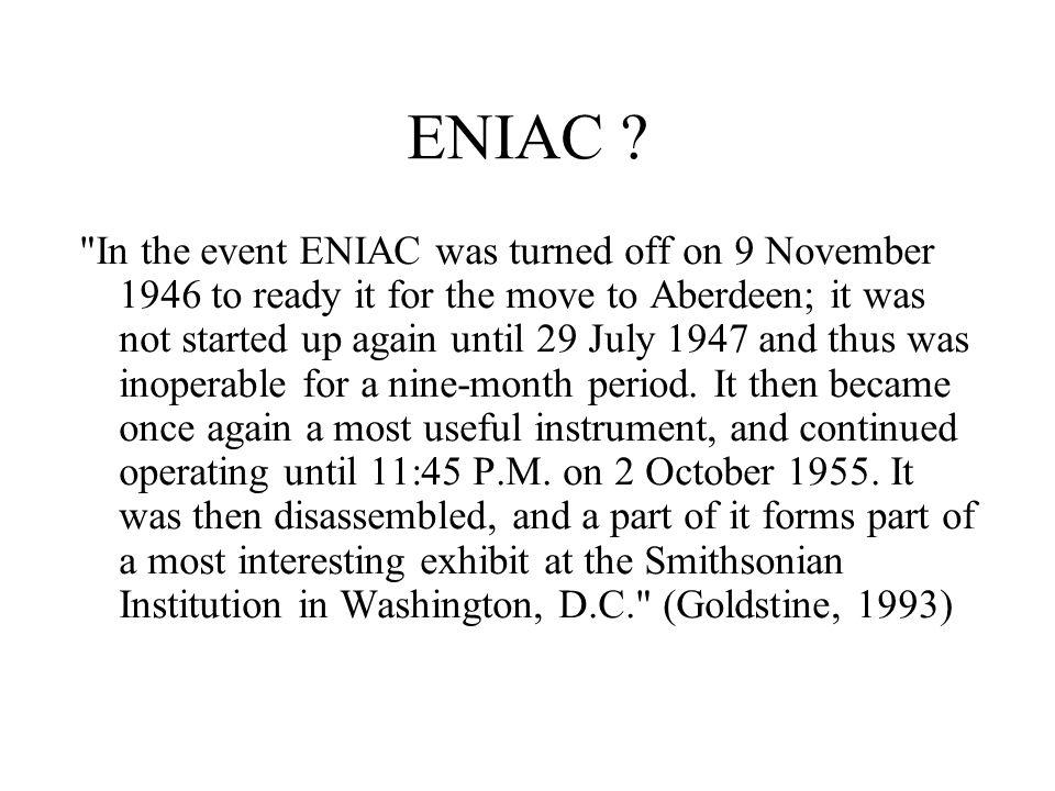 ENIAC .