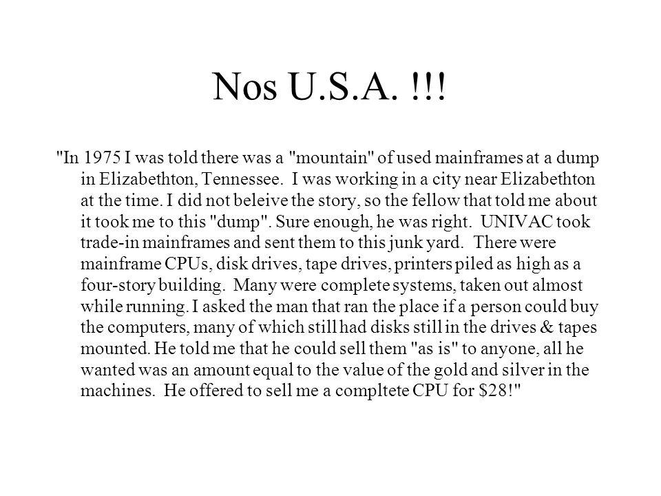 Nos U.S.A. !!.