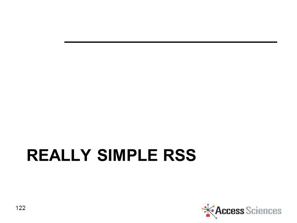 REALLY SIMPLE RSS 122