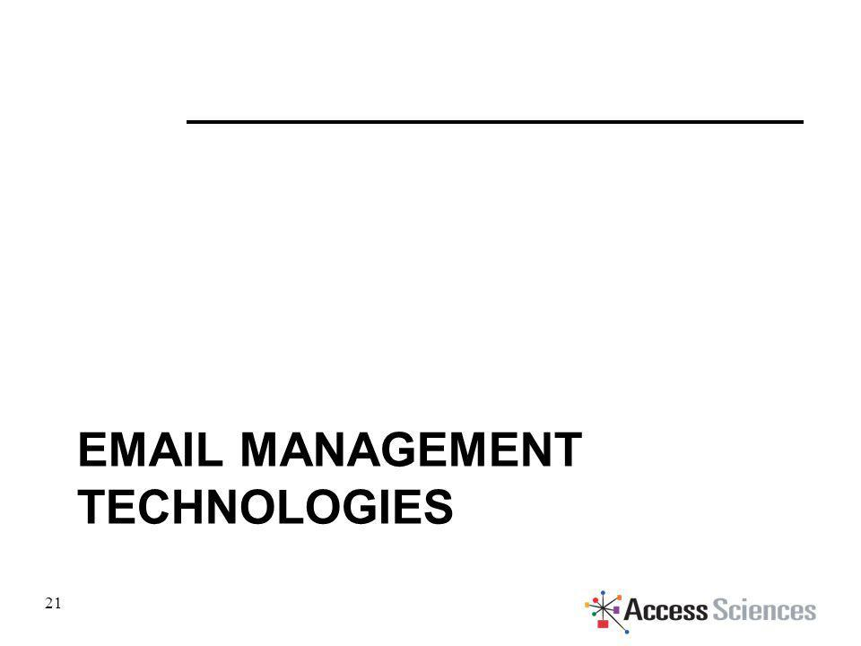 EMAIL MANAGEMENT TECHNOLOGIES 21