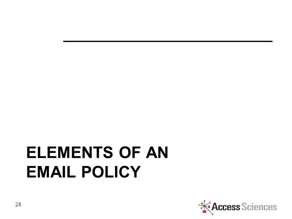 ELEMENTS OF AN EMAIL POLICY 28