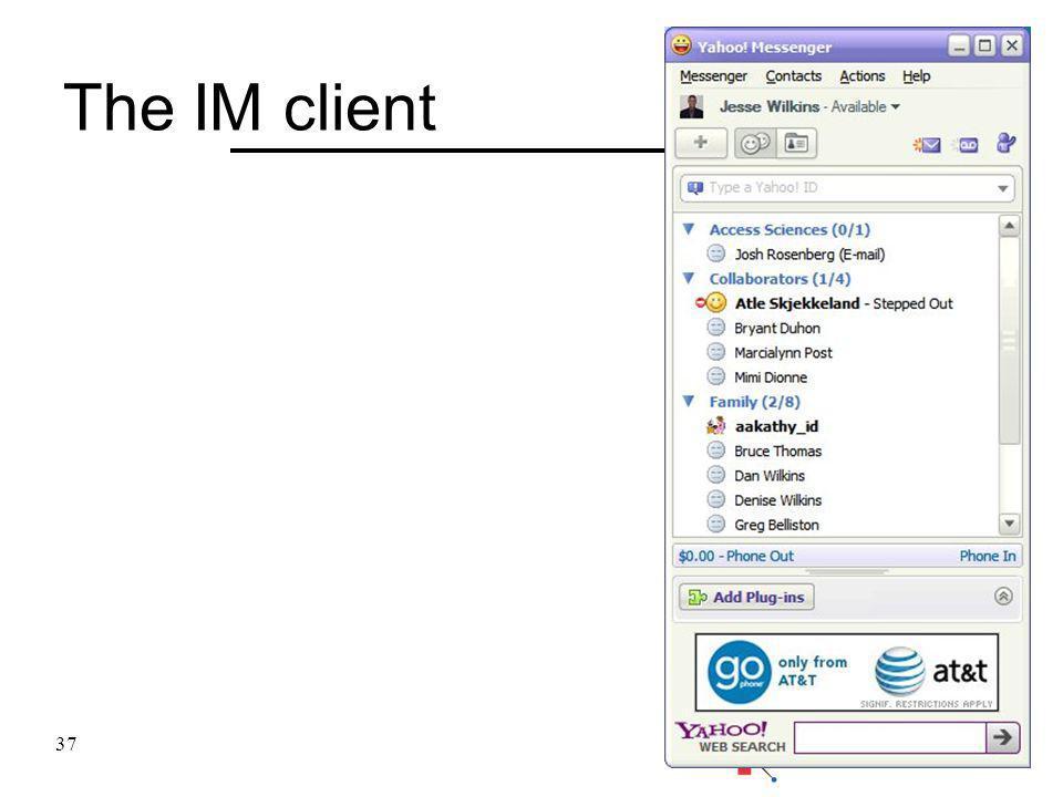 The IM client 37
