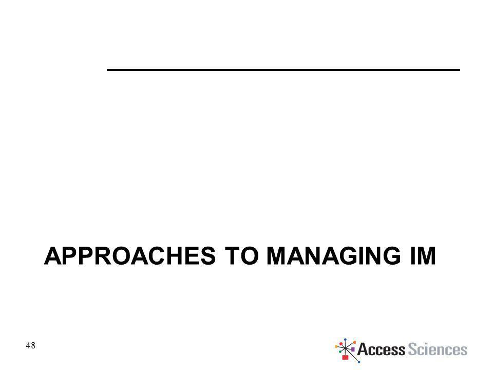 APPROACHES TO MANAGING IM 48