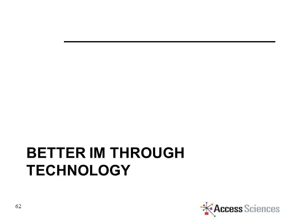 BETTER IM THROUGH TECHNOLOGY 62