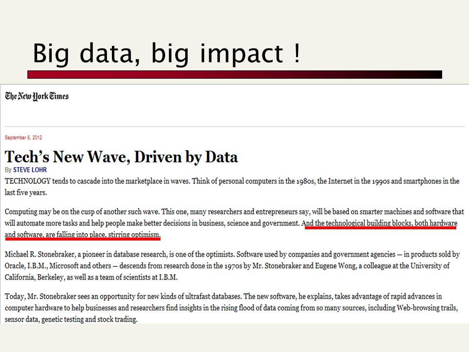 Big data, big impact !