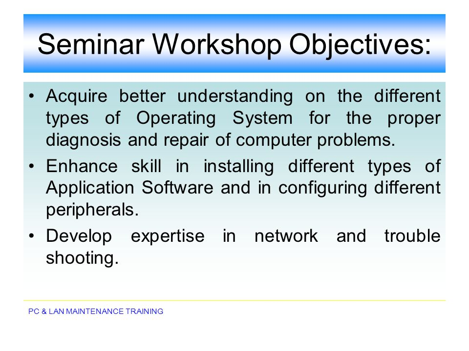 PC & LAN MAINTENANCE TRAINING Computer Memory memory is technically any form of electronic storage, it is used most often to identify fast, temporary forms of storage.