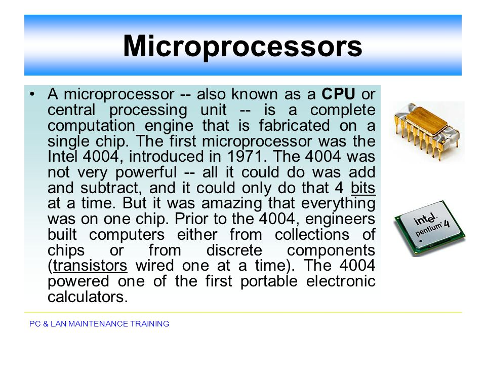 PC & LAN MAINTENANCE TRAINING EPROM Erasable programmable read-only memory (EPROM) addresses this issue.