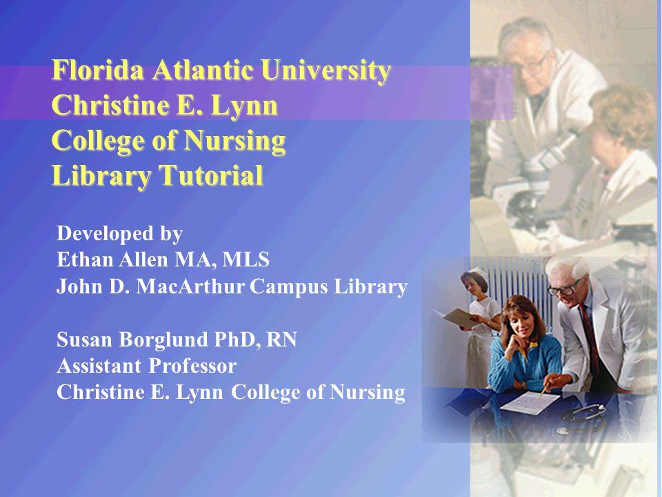 Florida Atlantic University Christine E.