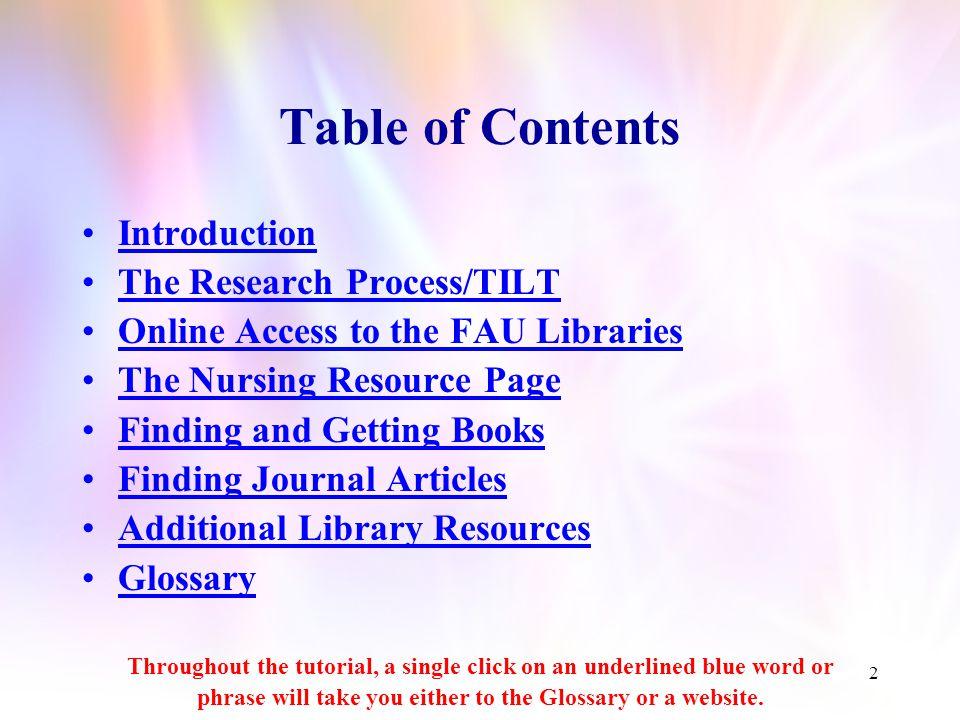 Florida Atlantic University John D. MacArthur Library Nursing Resource Page