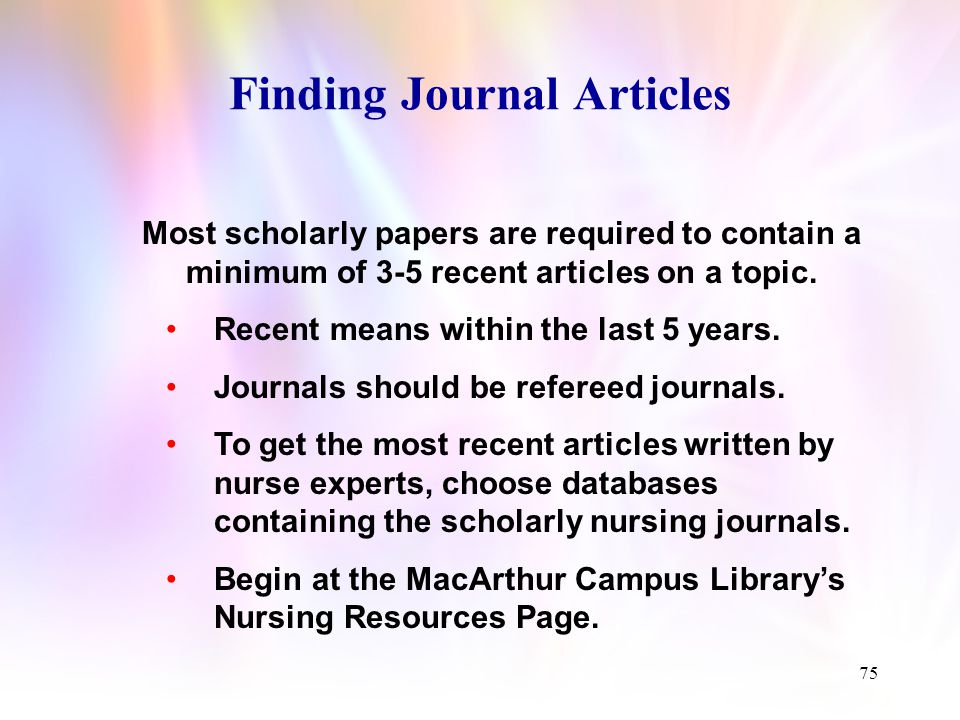 Locating Journal Articles