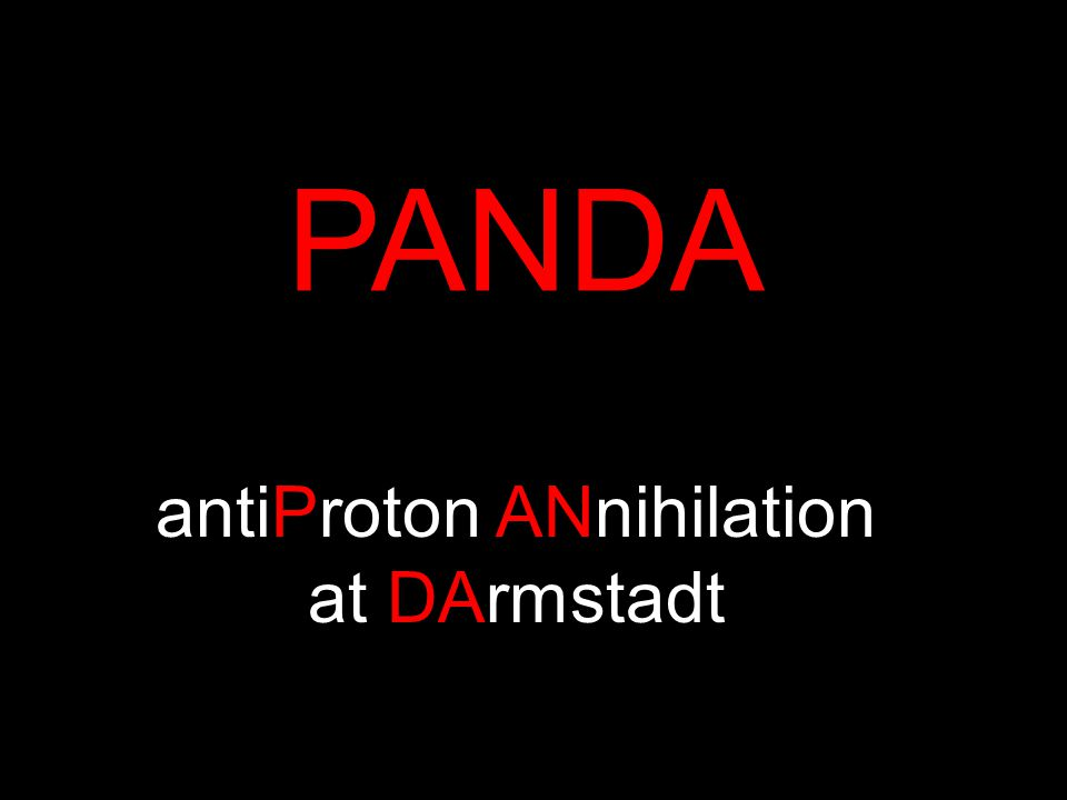 PANDA antiProton ANnihilation at DArmstadt
